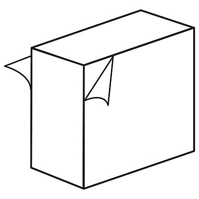 "FFR Merchandising Foam Block Stand-Off, 1/2"" D, White, Perm/Remove, 240/Pack (8601296601)"
