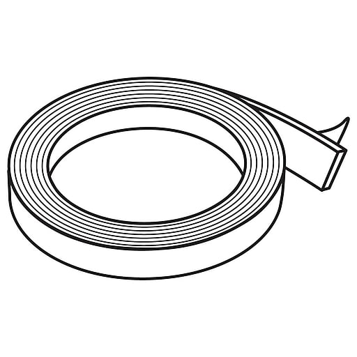 """FFR Merchandising Double-Sided Clear Adhesive Tape, Permanent, 1/2"""" W x 1/25""""D (8601948500)"""