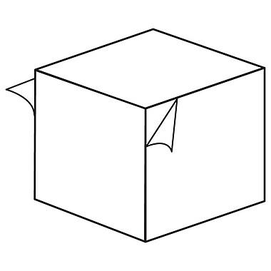 FFR Merchandising ? Bloc de mousse pour étalage, 1 prof. (po), permanent/amovible, blanc, 144/paquet (8609168601)