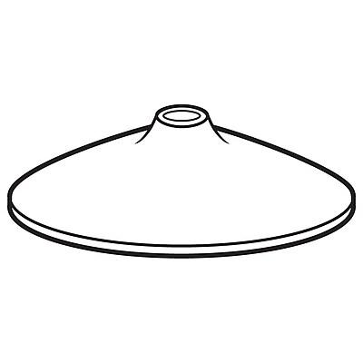 FFR Merchandising Plastic Display Bases, White, 1