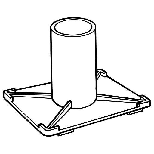 "FFR Merchandising Display Pole Foot, 1 15/32"" O.D., 1 1/4 I.D., 30/Pack (8701666800)"
