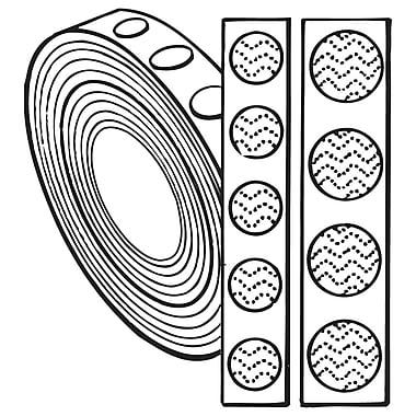 FFR Merchandising ? Fermetures autoagrippantes, boucle de 0,75 po, noir, boutons (8808018002)