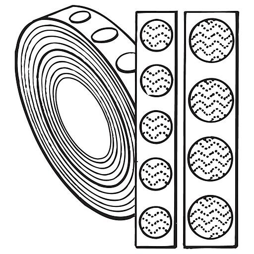 """FFR Merchandising Hook and Loop Fasteners, 7/8"""" Loop, Black, Buttons (8808018005)"""