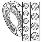 """FFR Merchandising Hook and Loop Fasteners, Buttons, 7/8"""" Loop, White (8808018006)"""