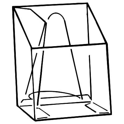 FFR Merchandising EC Pop-Up® Easel-Back Literature Box, 4 1/16
