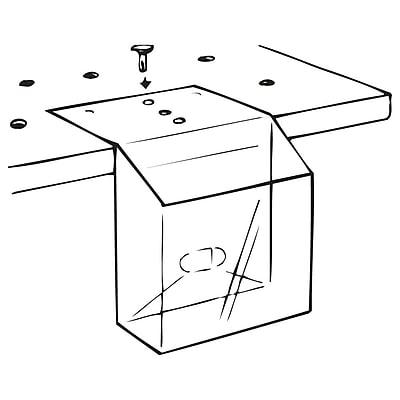 FFR Merchandising KL Pop-Up® Literature Box, 3 3/4