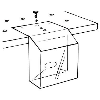 FFR Merchandising ? Présentoir à dépliants KL Pop-Up en PVC, 5,63 larg. x 5,5 haut. x 1,25 (po), rabat, 20/paquet (9107814901)