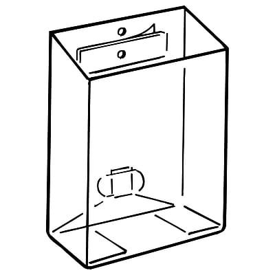 FFR Merchandising KL Pop-Up® Literature Box with Adhesive, 5-5/8