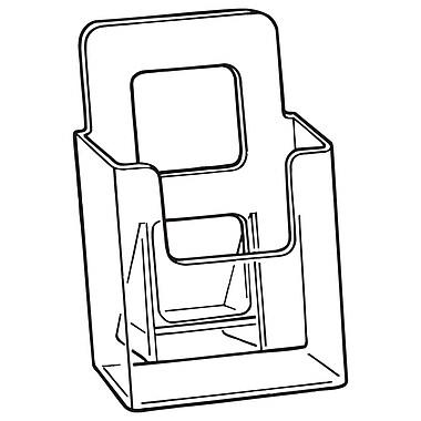 FFR Merchandising V-4 Vision Literature Holder, Freestanding, 10/Pack (9301825901)