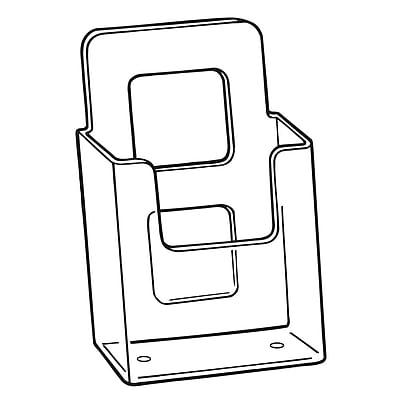 FFR Merchandising V-4 Vision Literature Holder, Wall, 10/Pack (9301825902)