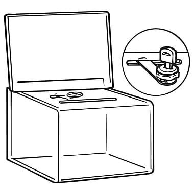 FFR Merchandising BB-1 Ballot and Coin Box, 6