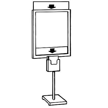 FFR Merchandising ? Support de plancher Premier PR-310 pour porte-affiches, 23 larg. x 60 haut. (po), support (9501978900)