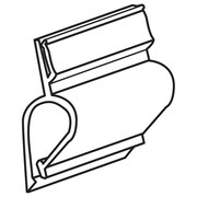 "FFR Merchandising Gourmet Clip Tag Holder, 1"" L, 28/Pack (9920717435)"