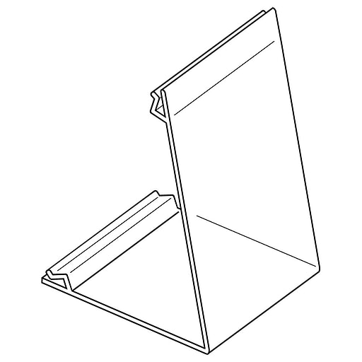 """FFR Merchandising Easel Card Holder, 3"""" H x 2' W, Two-Way, 12/Pack (9920717858)"""