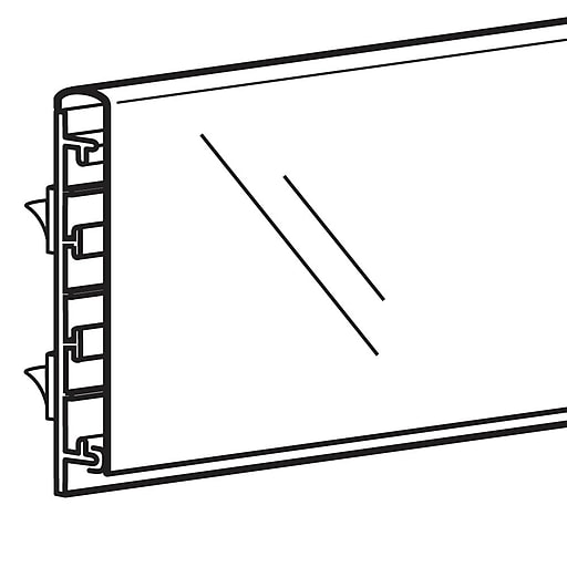 """FFR Merchandising Self-Adhesive Track Sign Channel with Clear Cover, 3 3/4"""" H x 48"""" L, Three-Track, 2/Pack (9920719164)"""