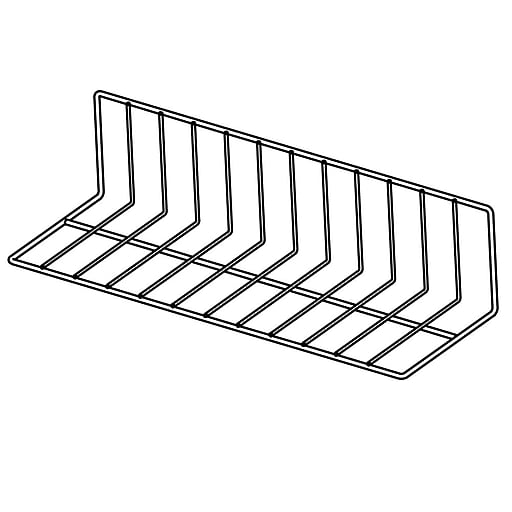 """FFR Merchandising Vinyl-Coated Wire Fencing, 6""""H x 8""""H x 24""""L, White, 2"""", 4/Pack (9921010720)"""