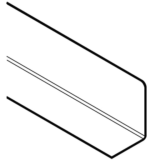 """FFR Merchandising Solid Acrylic Clear 4""""H x 6""""W x 36""""L L Dividers, 2/Pack (9921011004)"""