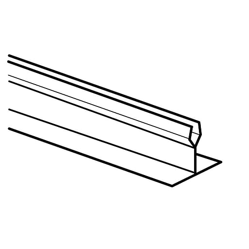 """FFR Merchandising Straight T Dividers And Parsley, 1""""H x 30""""L, White, Divider, 6/Pack (9921011518)"""