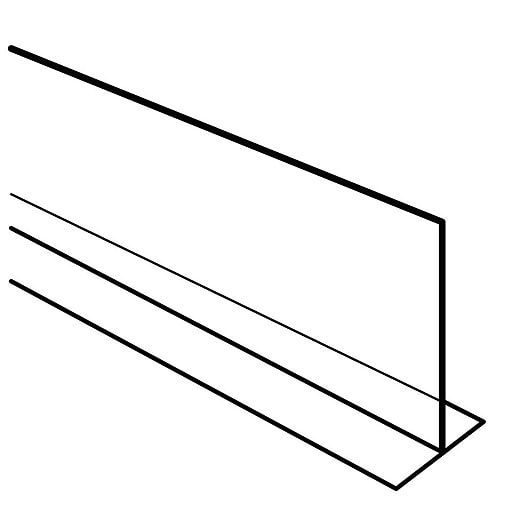"""FFR Merchandising All Purpose """"T"""" Dividers, 3"""" H x 36"""" L, Straight, 4/Pack (9921012087)"""