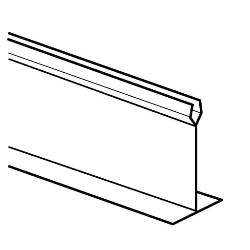 """FFR Merchandising Straight """"T"""" Dividers And Parsley, 3"""" H x 30"""" L, White, Divider, 4/Pack (9921014111)"""