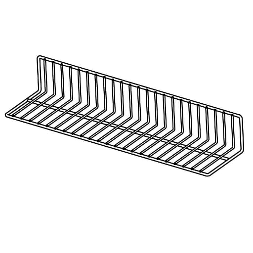 """FFR Merchandising Vinyl-Coated Wire Fencing, 4""""H x 6""""W x 24""""L, Black, 1"""" Wire Space, 4/Pack (9921016825)"""