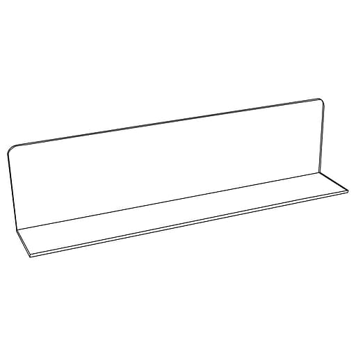 """FFR Merchandising Clear L Dividers, 4"""" H x 6"""" H x 12"""" L, Solid PETG, 4/Pack (9921018699)"""