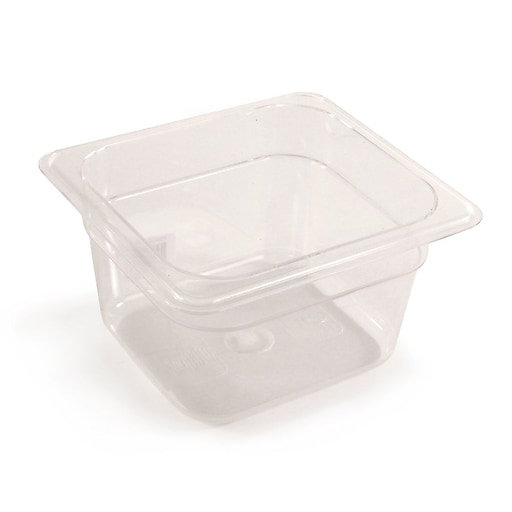 "FFR Merchandising Cold Food Pans and Covers, 4"" D, Clear, Sixth Pan, 1.7 qt, 6/Pack (9922510619)"