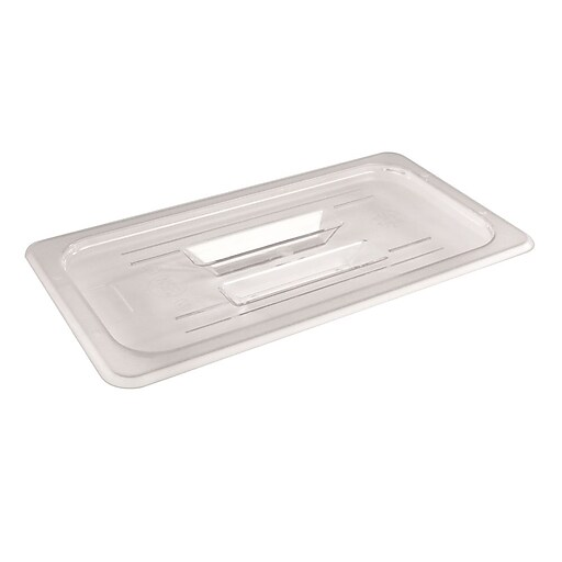 """FFR Merchandising Cold Food Pans and Covers, 6 5/16"""" W x 12 3/4"""" L, Clear, Third Cover, 6/Pack (9922510622)"""