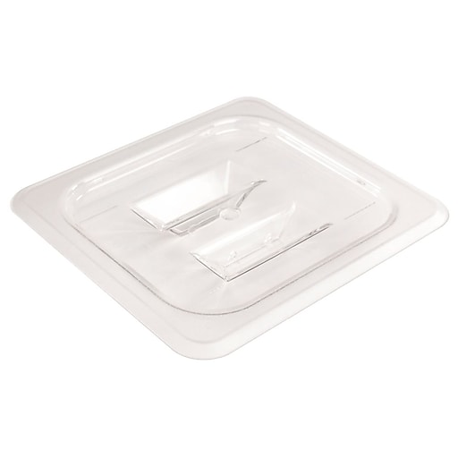 """FFR Merchandising Cold Food Pans and Covers, 6 3/8"""" W x 6 15/16"""" L, Clear, Sixth Cover, 12/Pack (9922510624)"""