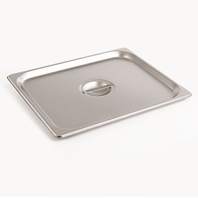 FFR Merchandising Stainless Steel Pans And Accessories, Half Cover, 2/Pack (9922510883)