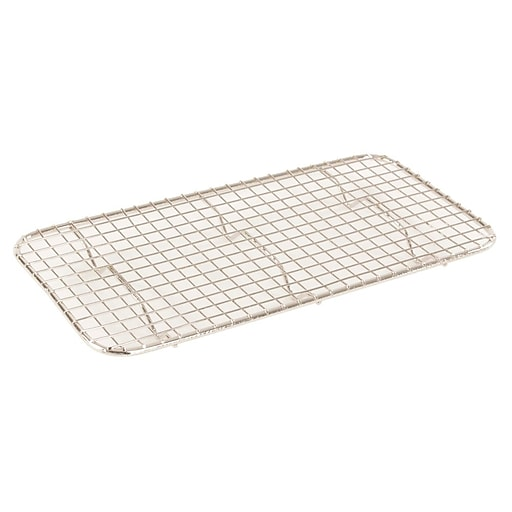 """FFR Merchandising Stainless Steel Pans And Accessories, 5""""W x 10-1/4""""L, Third Wire Grate, 5/Pack (9922512874)"""