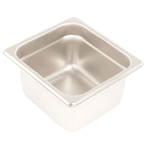 """FFR Merchandising Stainless Steel Pans And Accessories, 4"""" D, Sixth Pan, 1.6 qt, 2/Pack (9922516407)"""