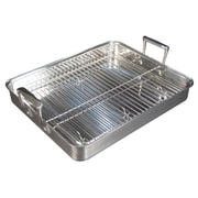 "FFR Merchandising Stainless Steel Rotisserie Pan, 11 3/4"" W x 9 1/2"" L x 2"" D, Pan, 3 qt, 2/Pack (9922519119)"