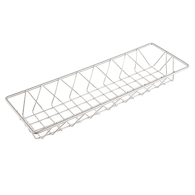 FFR Merchandising Wire Display Baskets and Trays, Smooth Gray Basket, 6