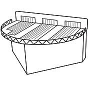 """FFR Merchandising Modular Pod Display Fixtures, 24""""W x 16""""D x 9""""H, Rear Module (9923810763)"""
