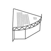 """FFR Merchandising Modular Pod Display Fixtures, 12"""" W x 22"""" D x 4 1/2"""" H, Left End Module (9923811975)"""