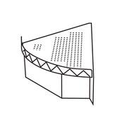 """FFR Merchandising Modular Pod Display Fixtures, 12""""W x 22""""D x 4-1/2""""H, Right End Module (9923813487)"""