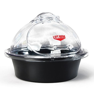 FFR Merchandising 3-Piece Sampling Units, Black Chill Tray/Clear Dome, 15