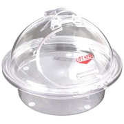 "FFR Merchandising 3-Piece Sampling Units, Clear Chill Tray/Clear Dome, 10"" Self-Closing (9923915222)"