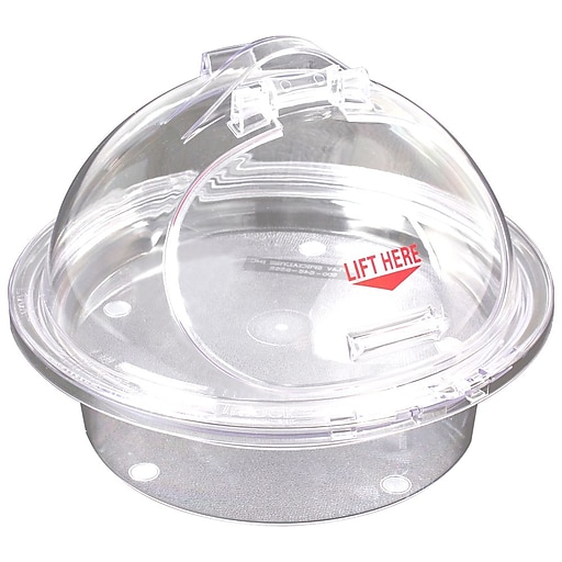 """FFR Merchandising 3-Piece Sampling Units, Clear Chill Tray/Clear Dome, 10"""" Self-Closing (9923915222)"""