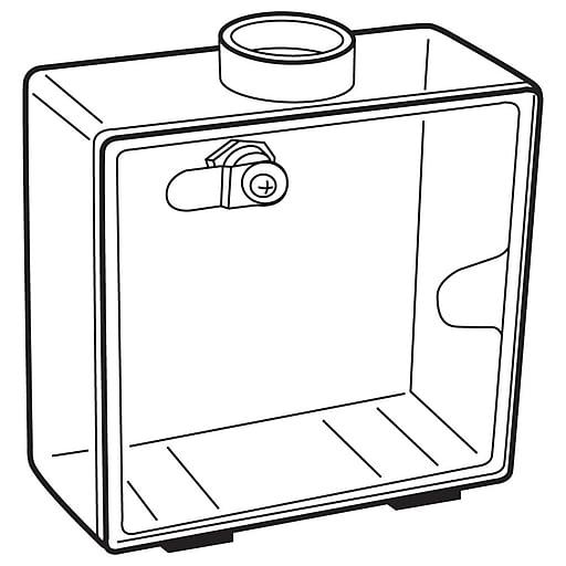 "FFR Merchandising Coin Box, 6 1/2"" L x 6 1/4"" H x 3"" W, 2/Pack (9925413989)"
