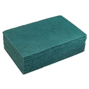 "FFR Merchandising Cleaning Supplies, 9"" L x 6"" W, Scouring Pads, 10/Pack (9926113296)"