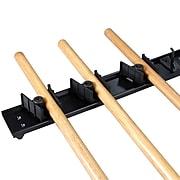"FFR Merchandising Broom/Mop Holder; Carlisle, 18""L, Black, 2/Pack (9926116462)"