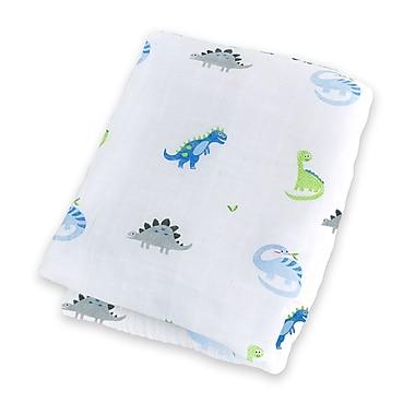 Lulujo Swaddling Blanket, Prehistoric Pals