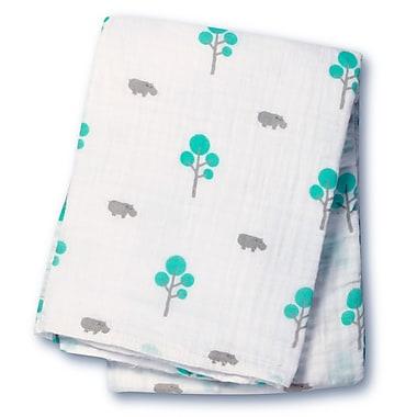 Lulujo Muslin Swaddling Blanket, Hippos