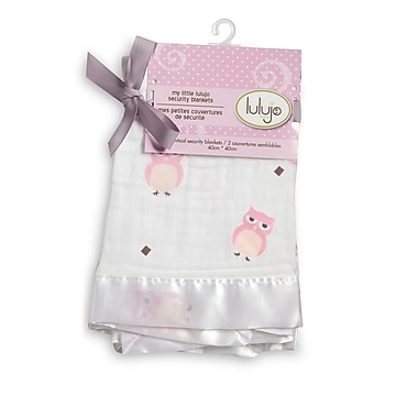 Lulujo Security Blanket, Pink Owls