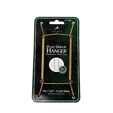 Tripar International Wire Plate Hangers, Brass Finish, 7.5