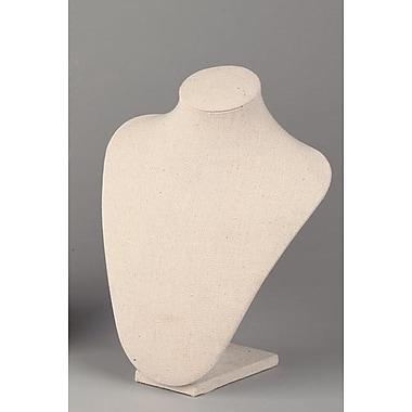 Tripar International – Forme de cou en tissu, petite, 9 1/2 po, crème