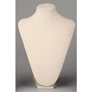 Tripar International – Forme de cou en tissu, grande, 12 po, crème