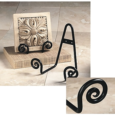 Tripar International Scroll Plate Stands for Wall Or Table, Black